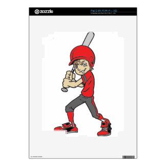 BASEBALL / SOFTBALL BOY BATTING iPad 2 SKINS