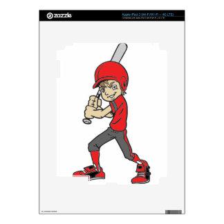 BASEBALL / SOFTBALL BOY BATTING iPad 3 DECAL