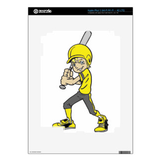 BASEBALL / SOFTBALL BOY BATTING iPad 3 DECALS