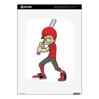 BASEBALL / SOFTBALL BOY BATTING iPad 3 SKIN