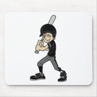 BASEBALL / SOFTBALL BOY BATTING MOUSE PAD