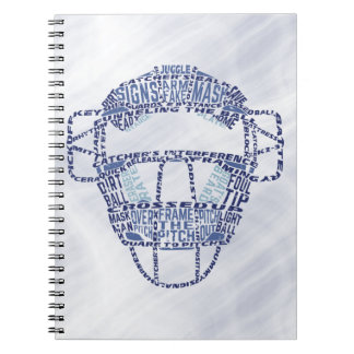 Baseball Softball Catcher's Mask Notebook