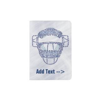 Baseball Softball Catcher's Mask Passport Holder