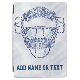 Baseball Softball Catcher's Mask Typography iPad Air Cover