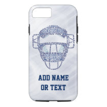 Baseball Softball Catcher's Mask Typography iPhone 8/7 Case