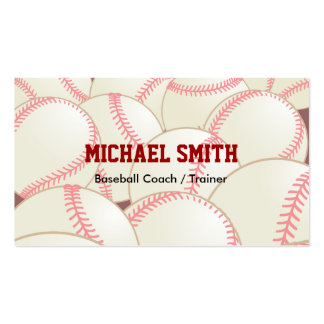 Baseball / Softball Coach Double-Sided Standard Business Cards (Pack Of 100)