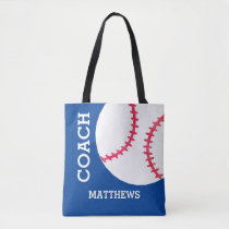 Baseball Softball Coach Personalized Sports Tote Bag