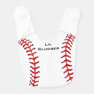 Baseball Softball Design Baby Bib