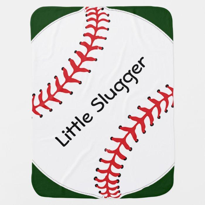 Baseball Softball Design Baby Blanket | Zazzle
