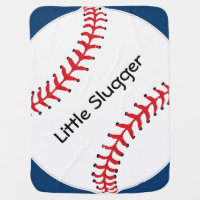 Baseball Softball Design Baby Blanket