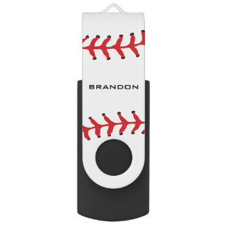 Baseball Softball Design Flash Drive