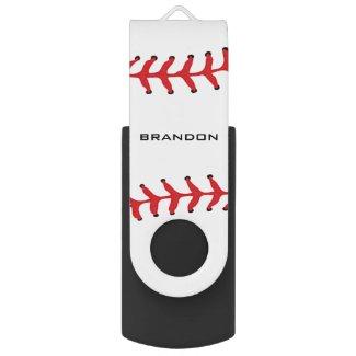 Baseball Softball Design Flash Drive