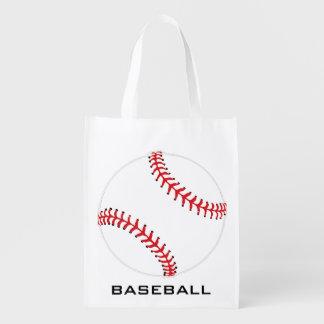 Baseball Softball Design Reusable Tote Reusable Grocery Bag