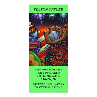 BASEBALL SOFTBALL GAMES - FUN THEMED Rack Cards