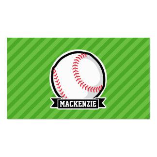 Baseball, Softball; Green Stripes Business Card