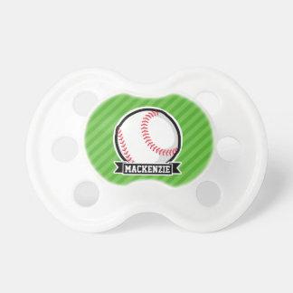 Baseball, Softball; Green Stripes BooginHead Pacifier