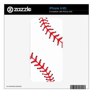 Baseball/Softball iPhone 4/4S Skin Decal For The iPhone 4