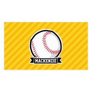 Baseball, softball on Yellow Stripes Business Card