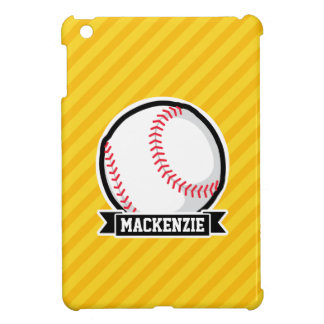 Baseball, softball on Yellow Stripes iPad Mini Case