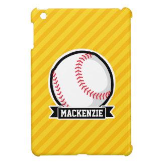 Baseball, softball on Yellow Stripes iPad Mini Cover