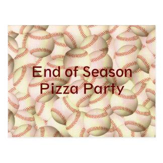 Baseball Softball Party Team Postcard