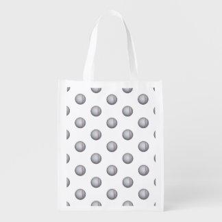 Baseball / Softball Pattern Reusable Grocery Bag