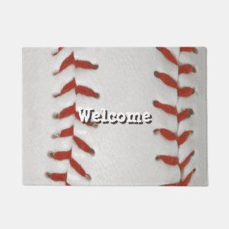 Baseball Softball Print Pattern Background Doormat