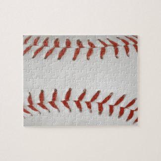 Baseball Softball Print Pattern Background Jigsaw Puzzle