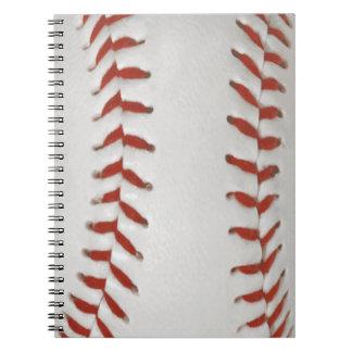 Baseball Softball Print Pattern Background Notebook