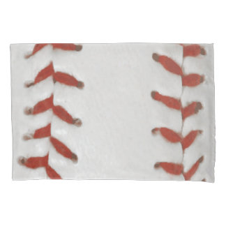 Baseball Softball Print Pattern Background Pillow Case