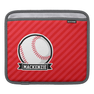 Baseball, Softball; Red Diagonal Stripes Sleeves For iPads