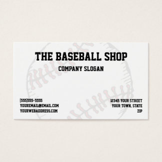 Baseball Softball Sports Theme Business Card