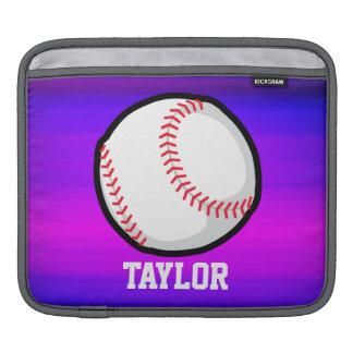 Baseball, Softball Vibrant Violet Blue and Magenta Sleeve For iPads