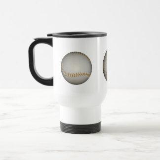 Baseball / Softball w/Orange Stitching 15 Oz Stainless Steel Travel Mug