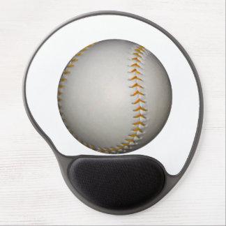 Baseball / Softball w/Orange Stitching Gel Mouse Pad