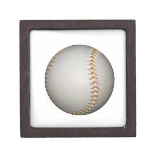 Baseball / Softball w/Orange Stitching Keepsake Box
