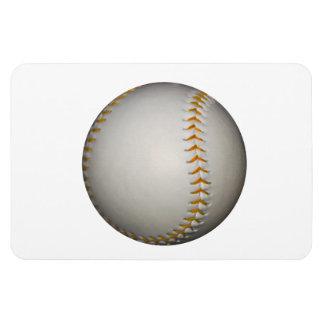 Baseball / Softball w/Orange Stitching Rectangular Photo Magnet