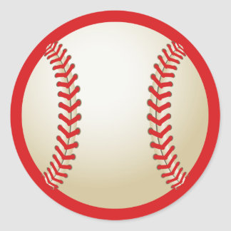 Baseball Sport All Star Birthday Baby Shower Favor Classic Round Sticker