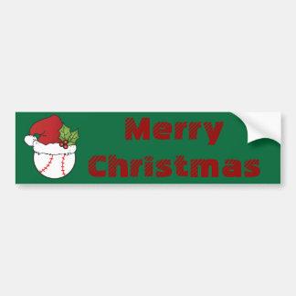 Baseball Sport Christmas Bumper Sticker