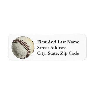 Baseball Sport Drawing Sketch Custom Return Address Labels