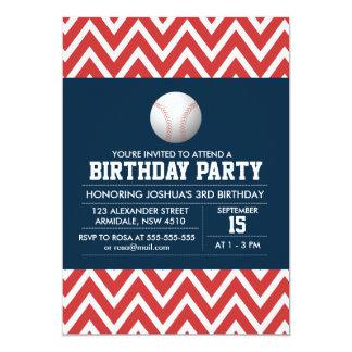 Baseball sport theme birthday boy party invitation