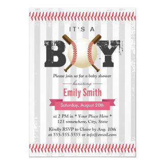 Baseball Sport Theme It's a Boy Baby Shower Card