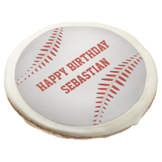Baseball Sport Themed Personalized Sugar Cookie