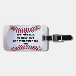 Baseball Sports Bag Tag