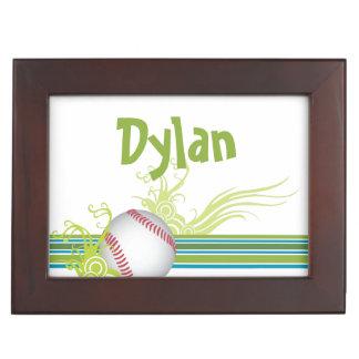 Baseball Sports Ball Game Personalized Name Keepsake Box