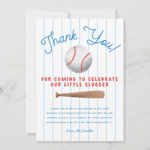 Baseball Birthday COC3 Thank You Coach Card Baseball Thank You Card Baseball Coach Card Baseball Thank You Flat Card Set of 3 Cards