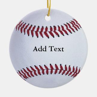 Baseball Sports Ceramic Ornament