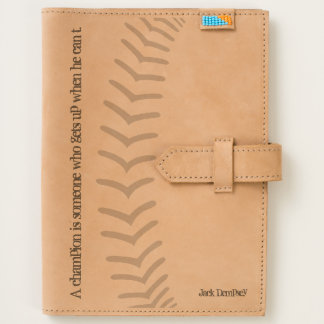 Baseball Sports Dempsey Stitches Leather Journal