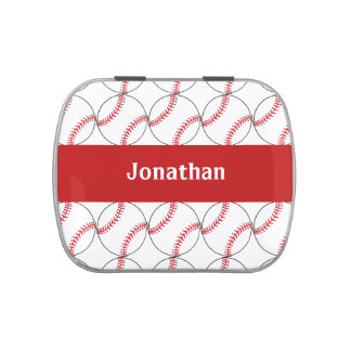 Baseball Sports Design Party Favor Candy Container Jelly Belly Candy Tin