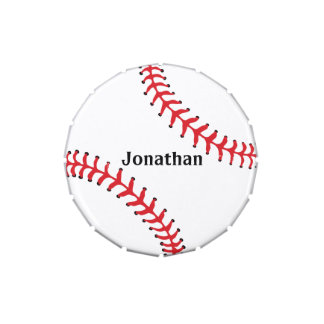Baseball Sports Design Party Favor Candy Jar Jelly Belly Tin